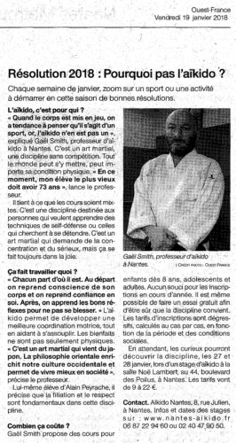 Interview nantes aikido ouest france gael smith